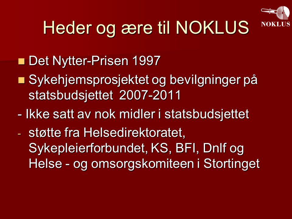 Heder og ære til NOKLUS Det Nytter-Prisen 1997