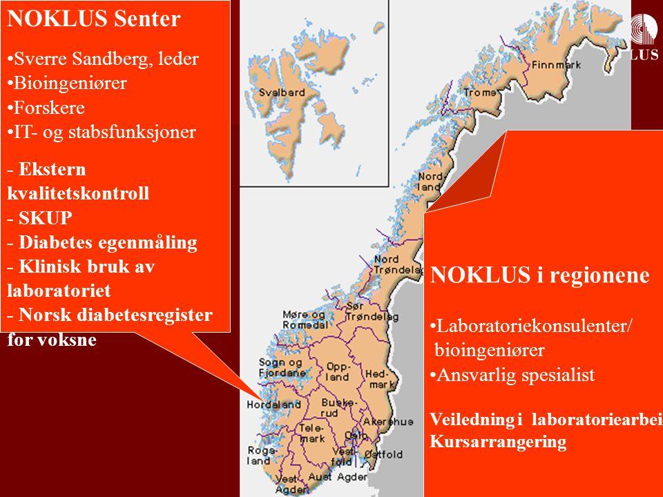 NOKLUS Senter NOKLUS i regionene Sverre Sandberg, leder Bioingeniører
