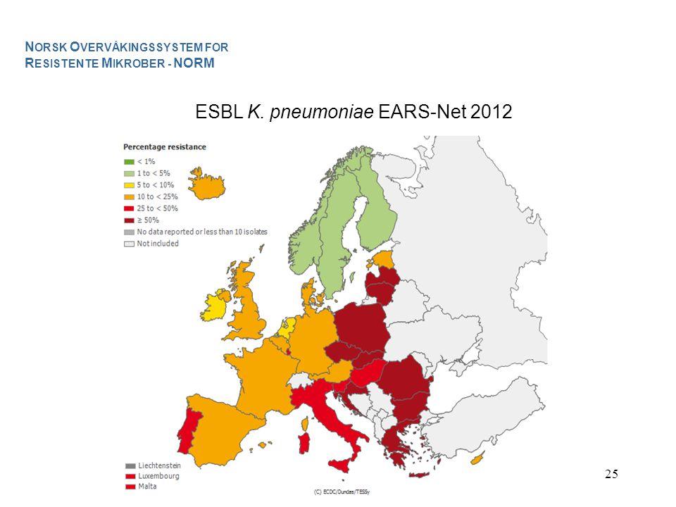 ESBL K. pneumoniae EARS-Net 2012