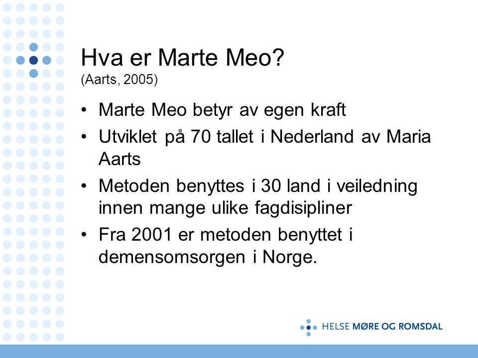 Hva er Marte Meo (Aarts, 2005)