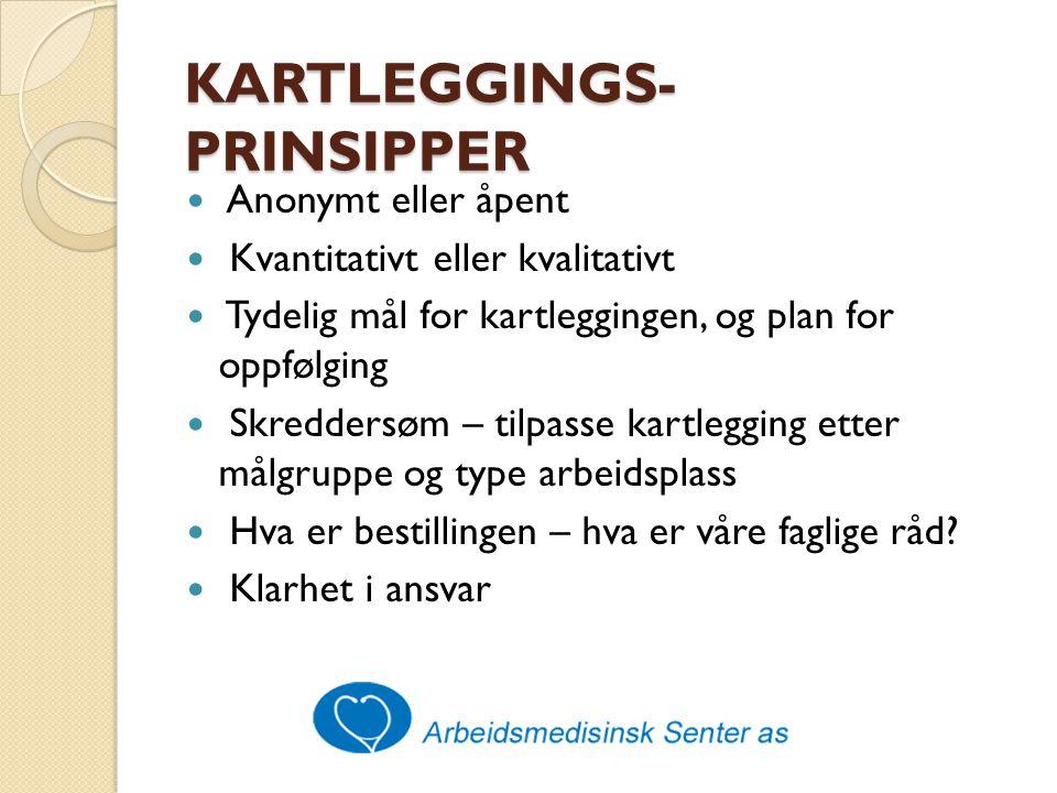 KARTLEGGINGS-PRINSIPPER