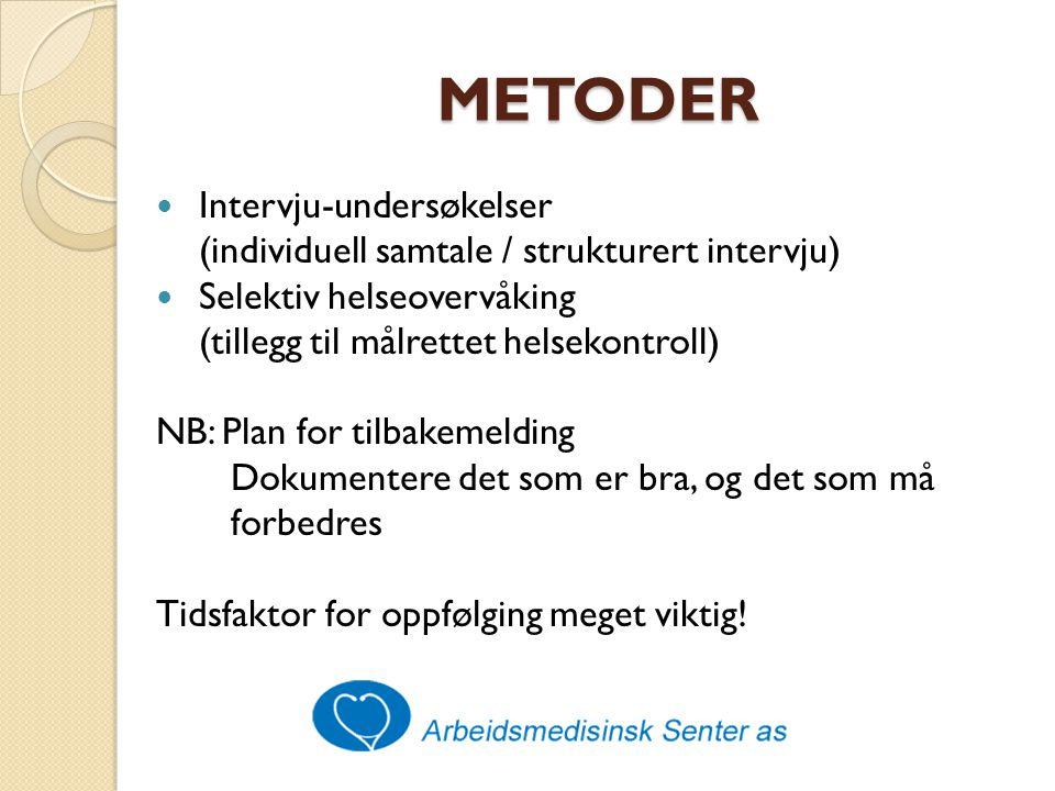 METODER Intervju-undersøkelser