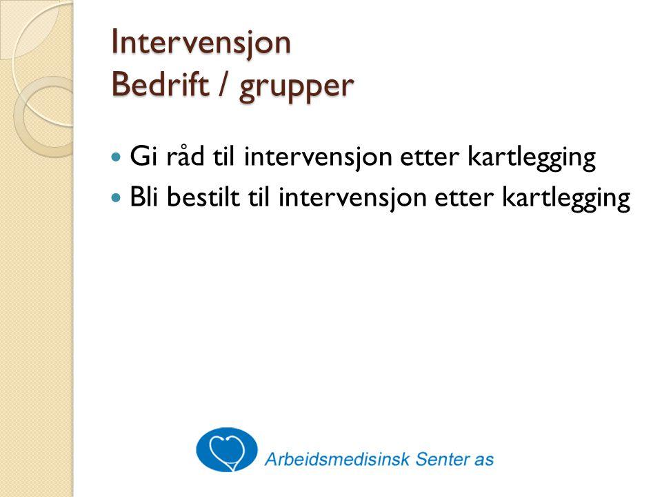 Intervensjon Bedrift / grupper