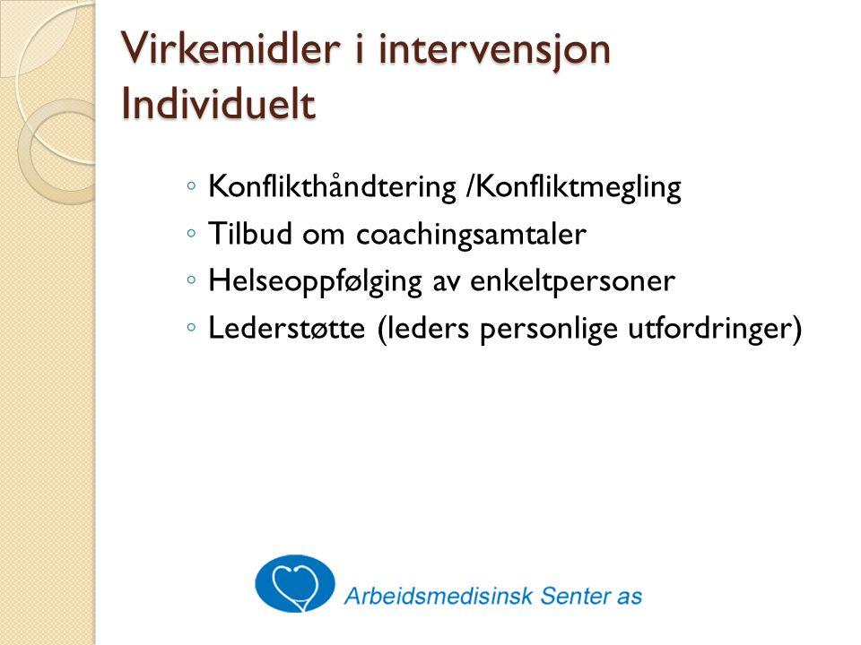 Virkemidler i intervensjon Individuelt
