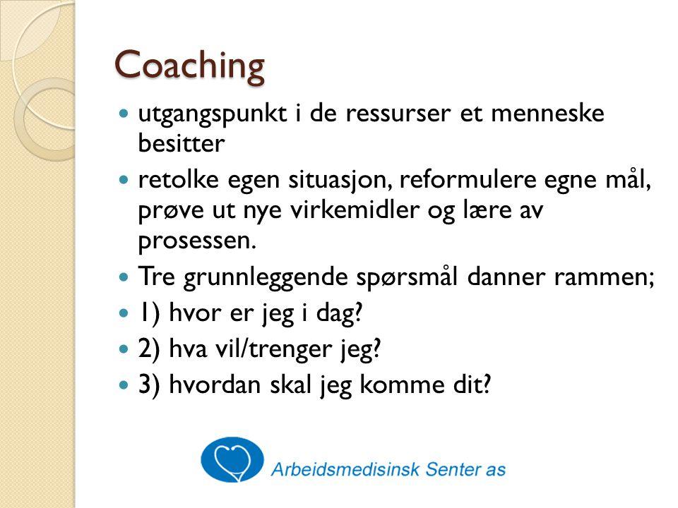 Coaching utgangspunkt i de ressurser et menneske besitter