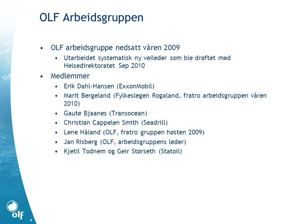 OLF Arbeidsgruppen OLF arbeidsgruppe nedsatt våren 2009 Medlemmer