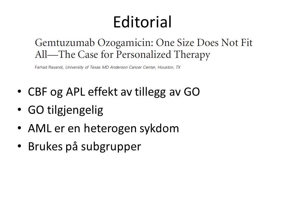 Editorial CBF og APL effekt av tillegg av GO GO tilgjengelig