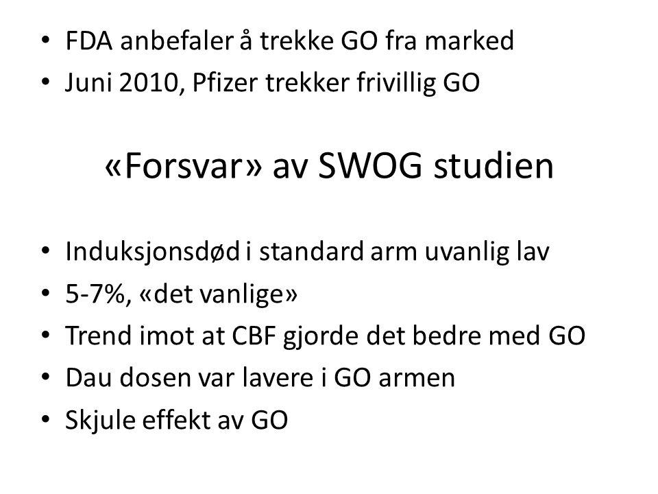 «Forsvar» av SWOG studien