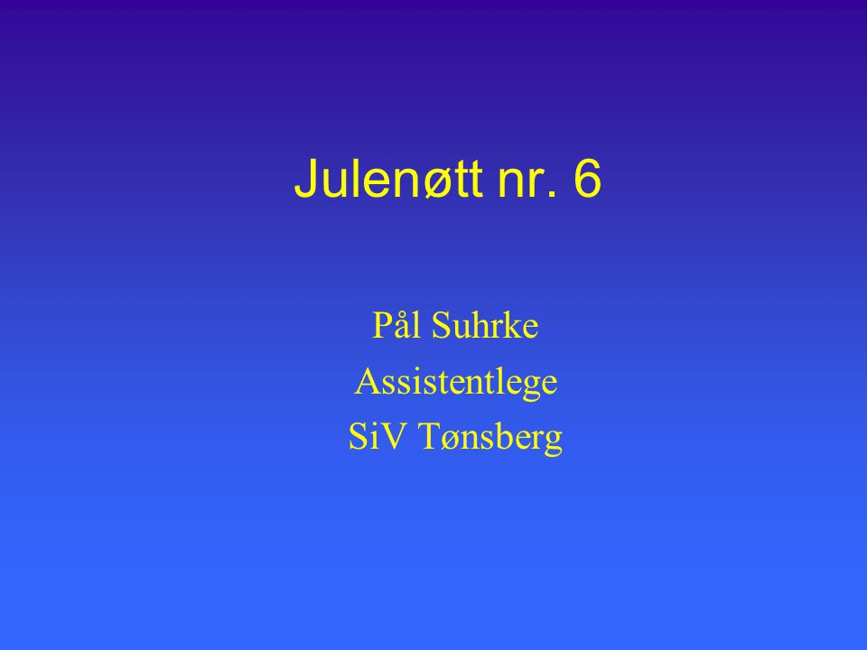 Pål Suhrke Assistentlege SiV Tønsberg