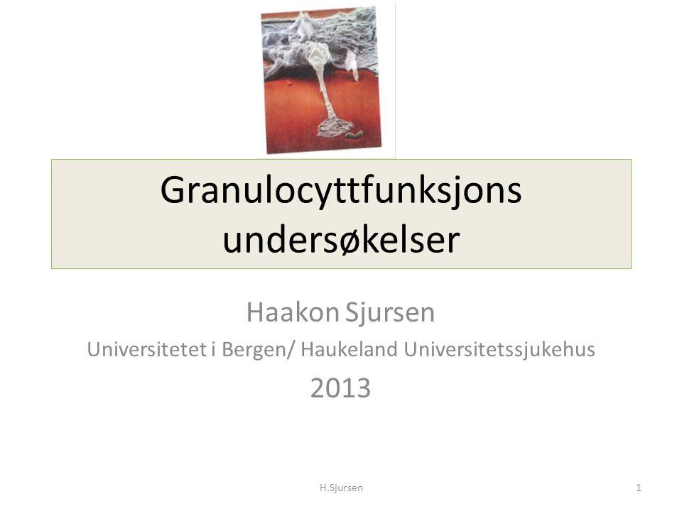 Granulocyttfunksjons undersøkelser