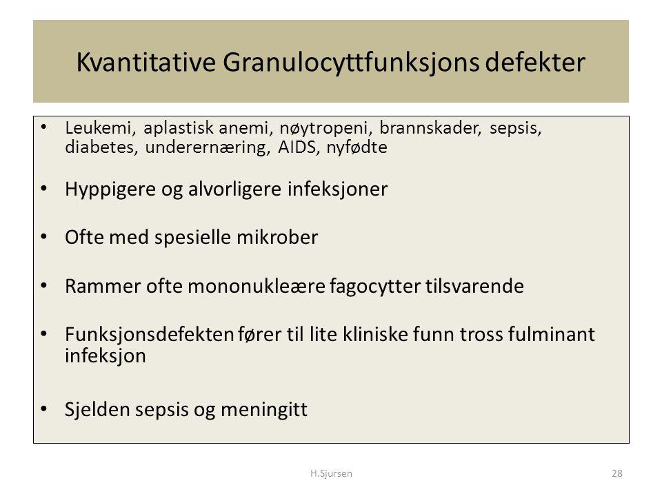 Kvantitative Granulocyttfunksjons defekter