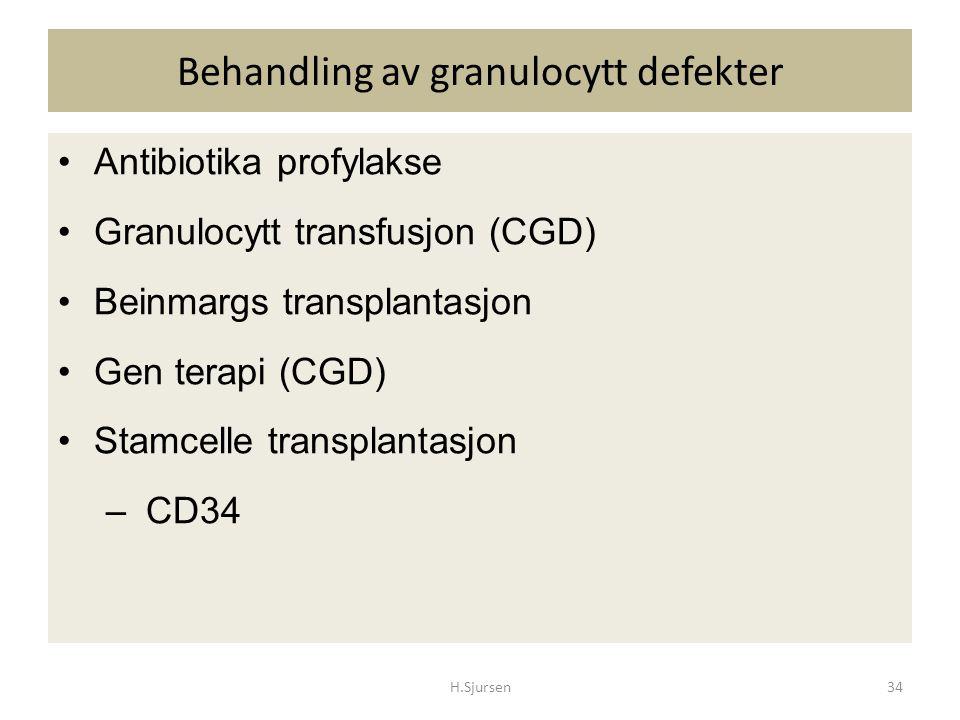 Behandling av granulocytt defekter