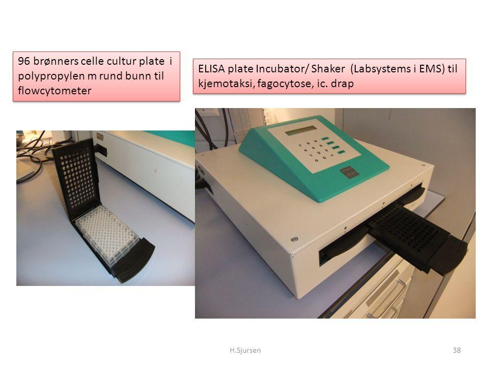 96 brønners celle cultur plate i polypropylen m rund bunn til flowcytometer