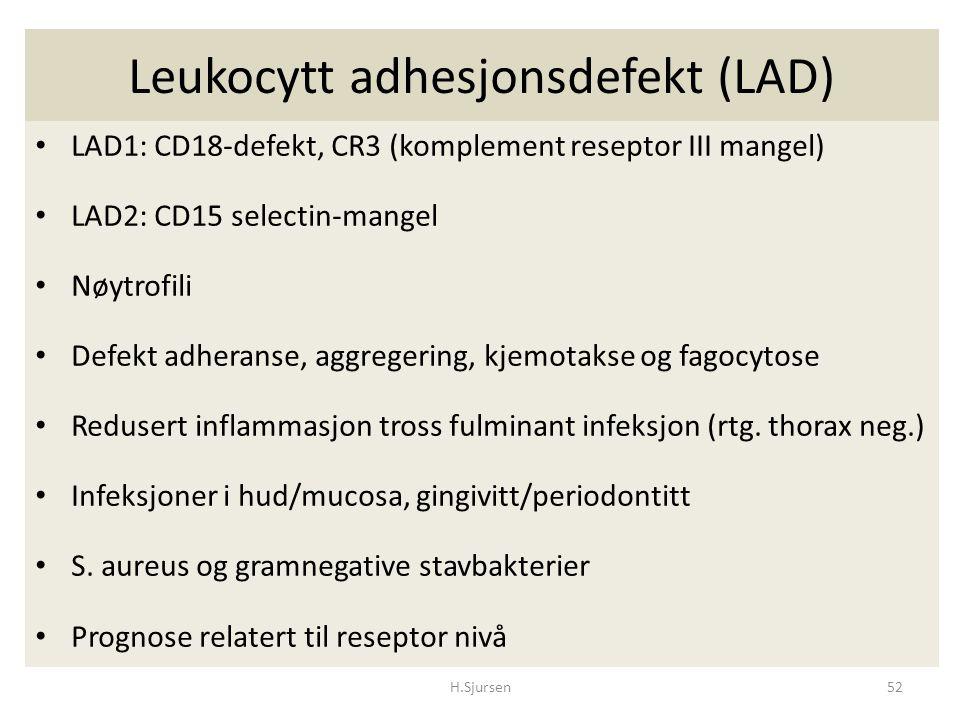Leukocytt adhesjonsdefekt (LAD)