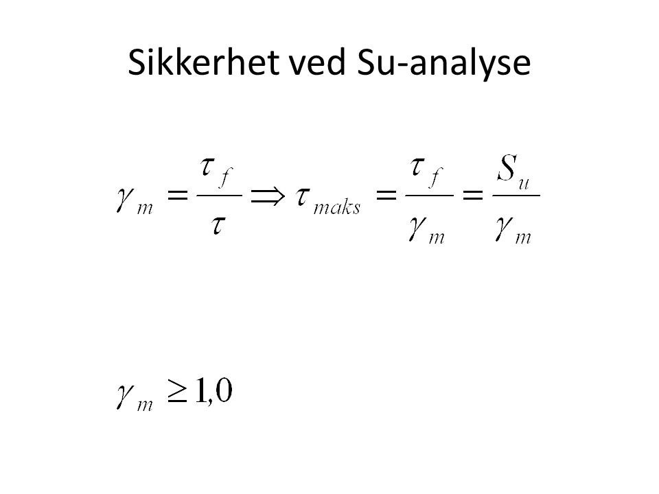 Sikkerhet ved Su-analyse