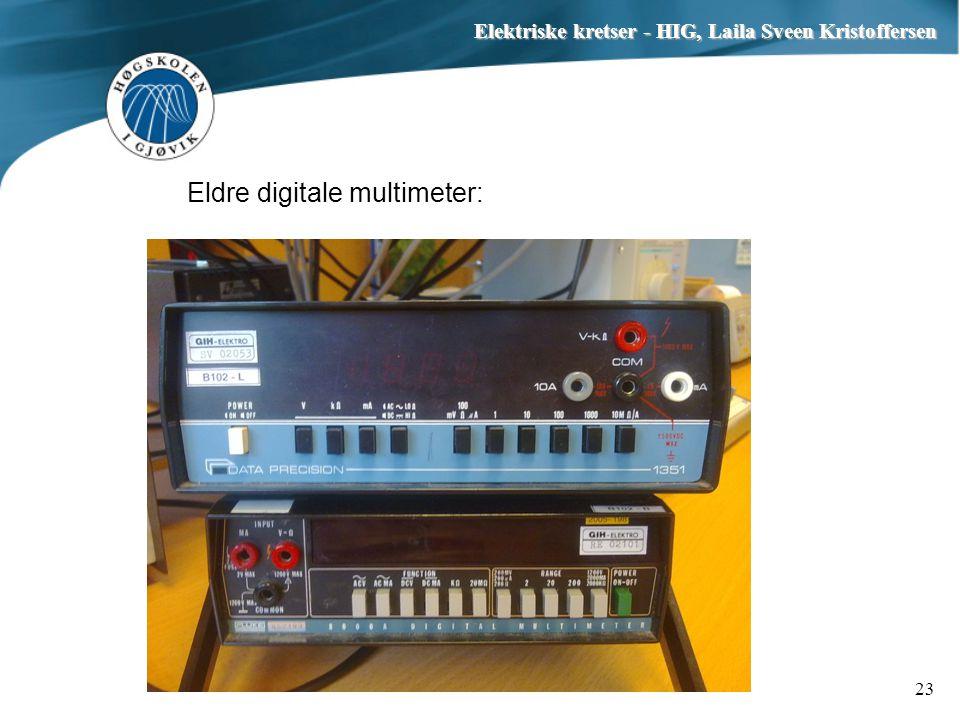 Eldre digitale multimeter: