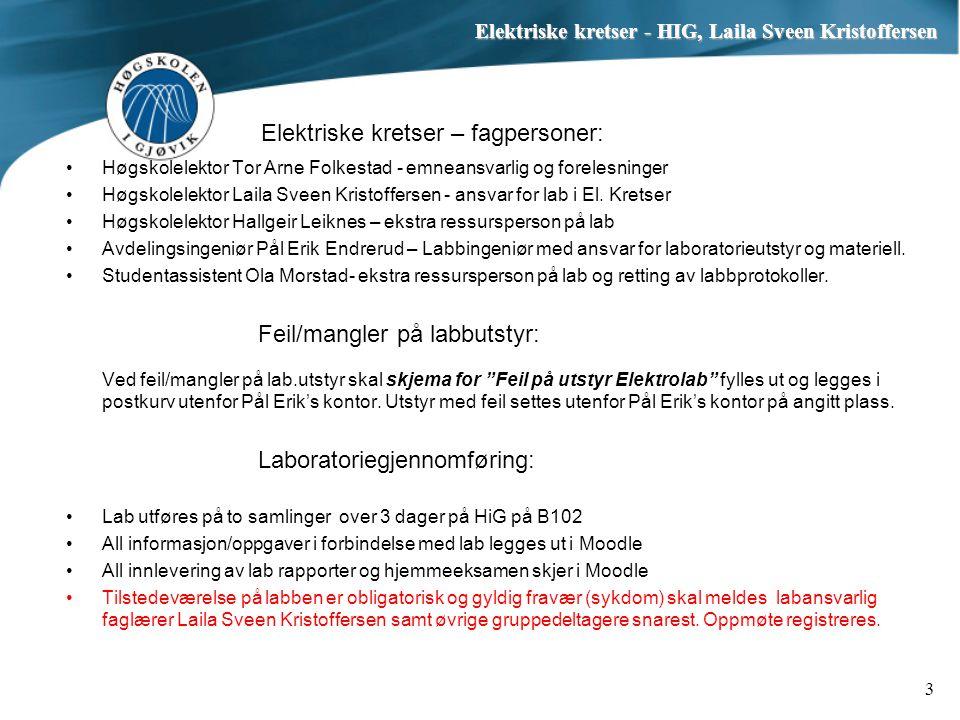 Elektriske kretser – fagpersoner: