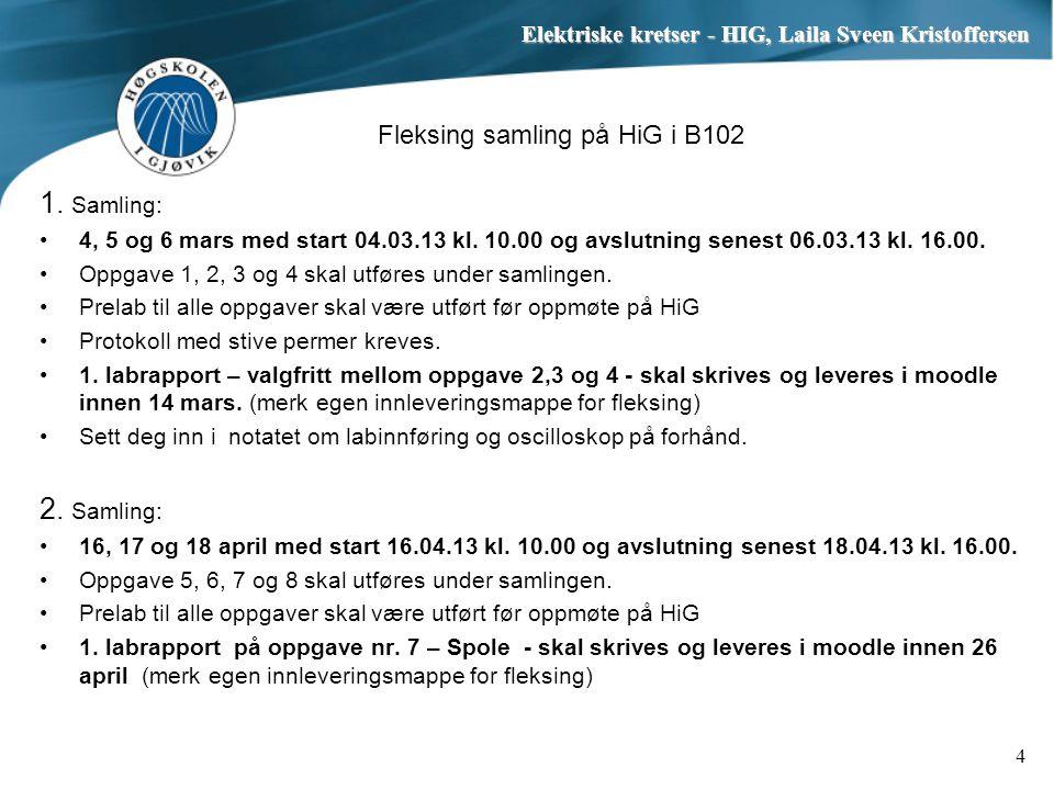 Fleksing samling på HiG i B102