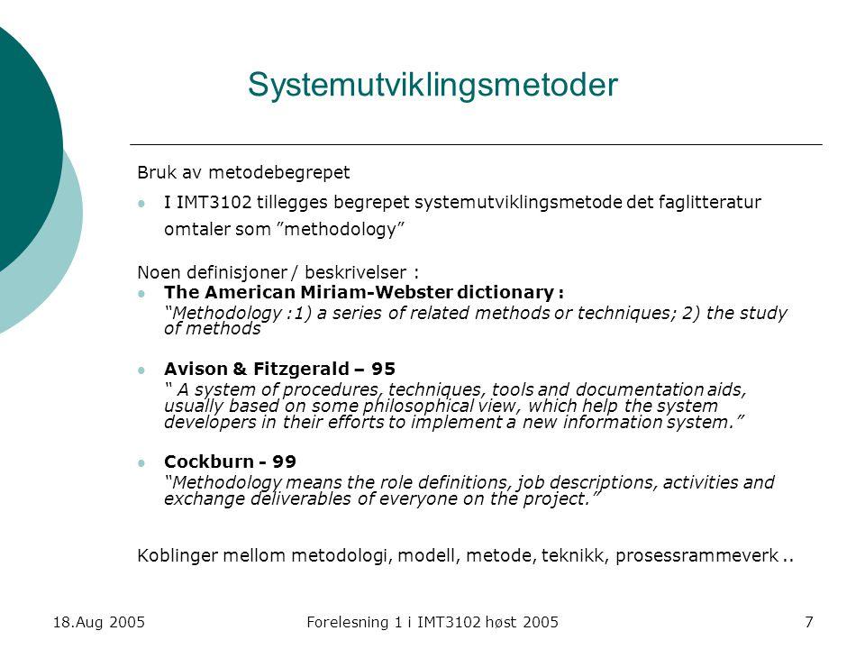 Systemutviklingsmetoder