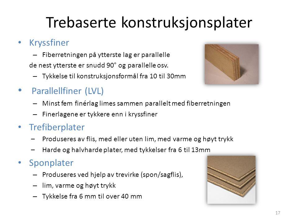 Trebaserte konstruksjonsplater