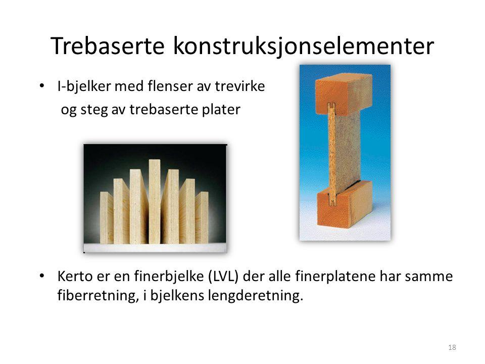 Trebaserte konstruksjonselementer