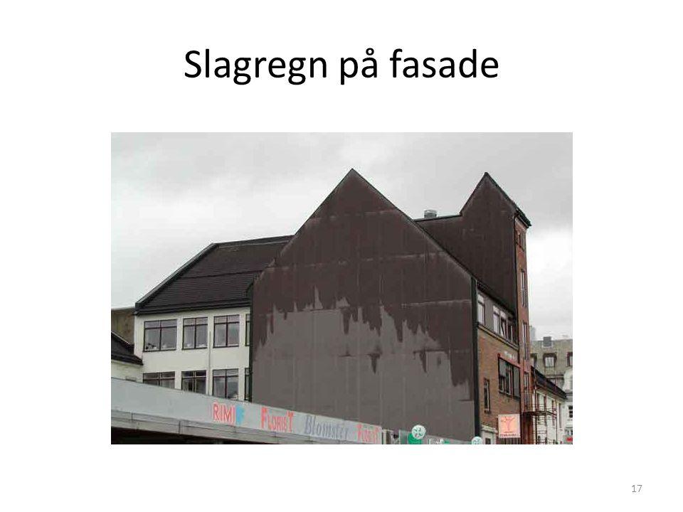 Slagregn på fasade