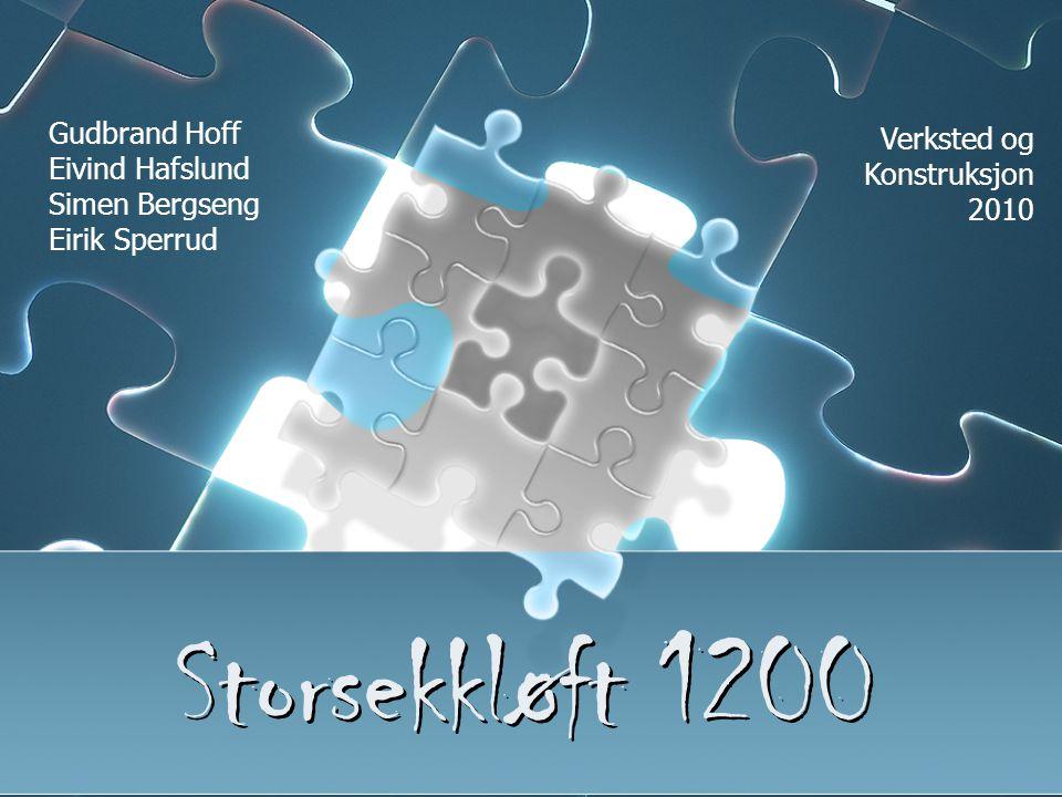 Storsekkløft 1200 Gudbrand Hoff Verksted og Konstruksjon