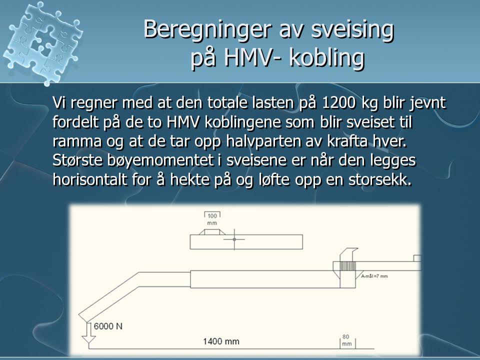 Beregninger av sveising på HMV- kobling