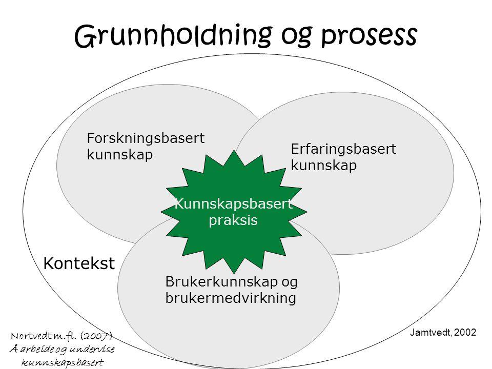 Nortvedt m.fl. (2007) Å arbeide og undervise kunnskapsbasert