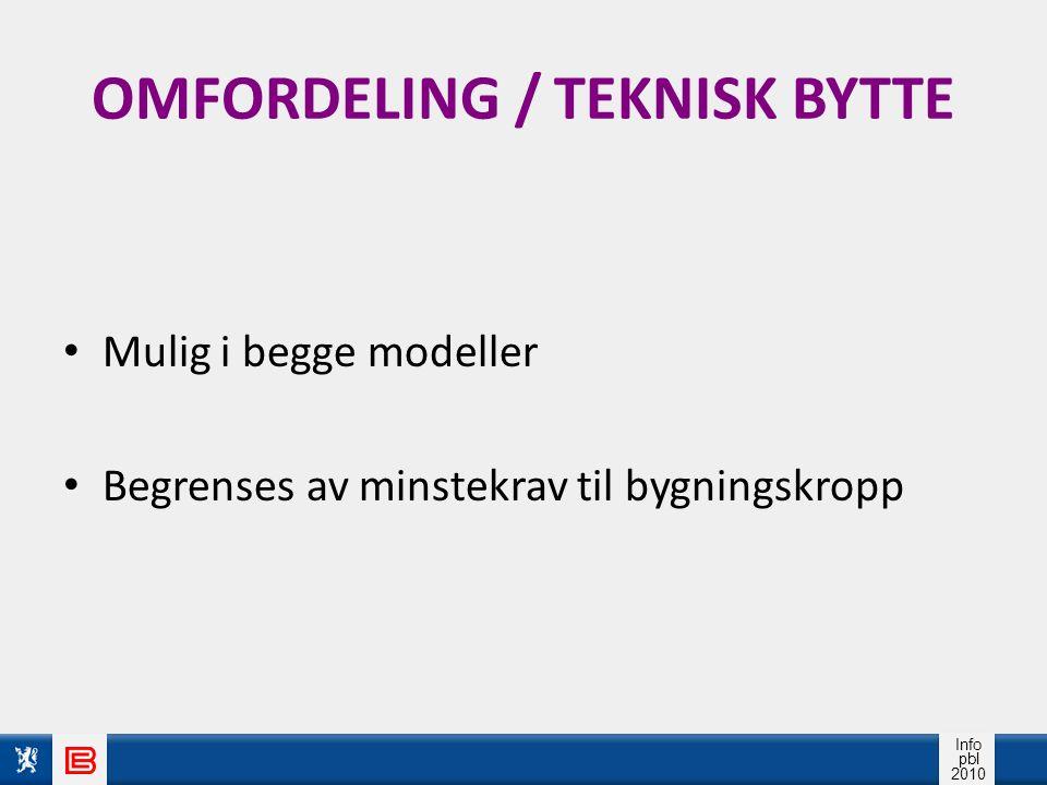 OMFORDELING / TEKNISK BYTTE