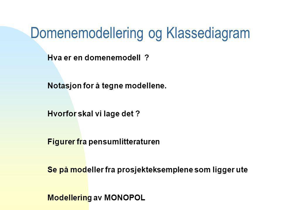 Domenemodellering og Klassediagram