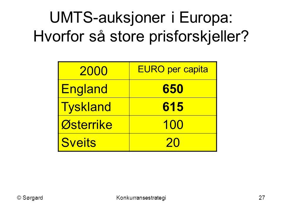 UMTS-auksjoner i Europa: Hvorfor så store prisforskjeller