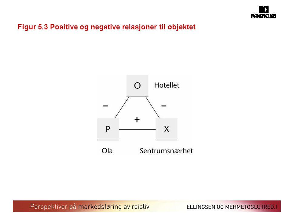 Figur 5.3 Positive og negative relasjoner til objektet