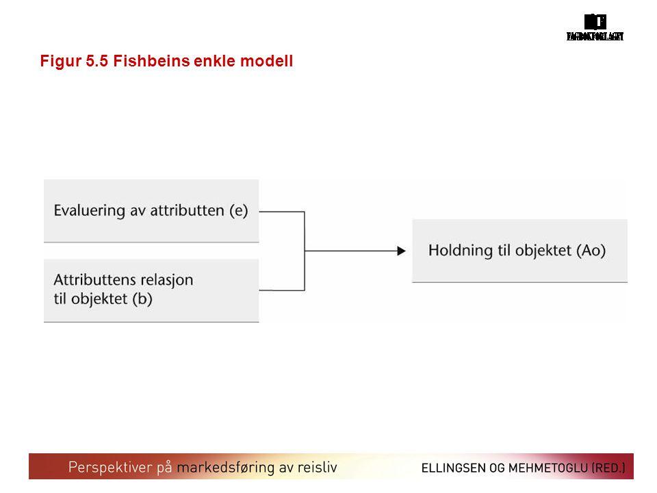 Figur 5.5 Fishbeins enkle modell