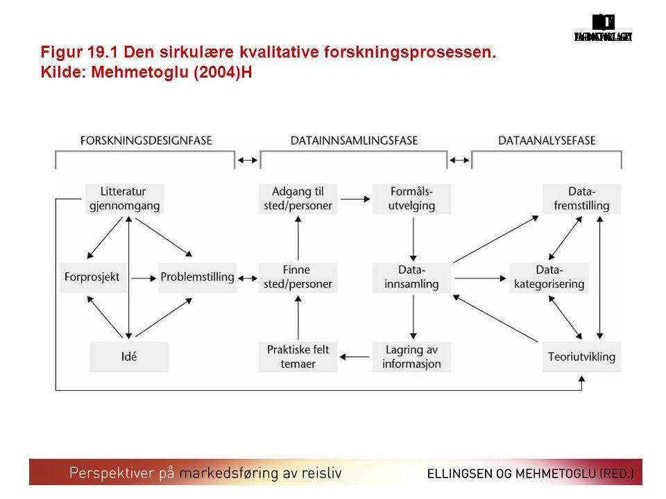 Figur 19. 1 Den sirkulære kvalitative forskningsprosessen