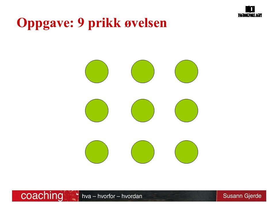 Oppgave: 9 prikk øvelsen