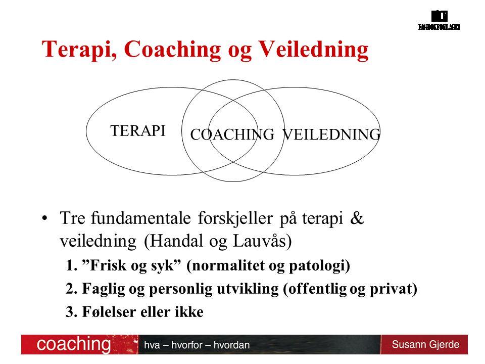 Terapi, Coaching og Veiledning