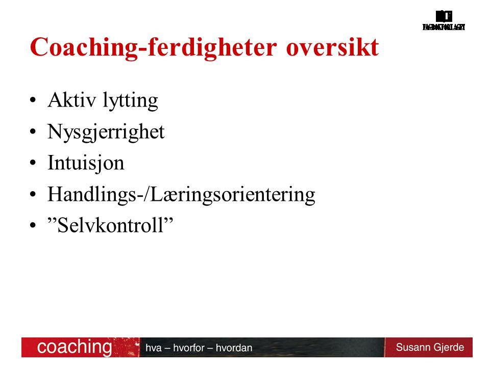Coaching-ferdigheter oversikt