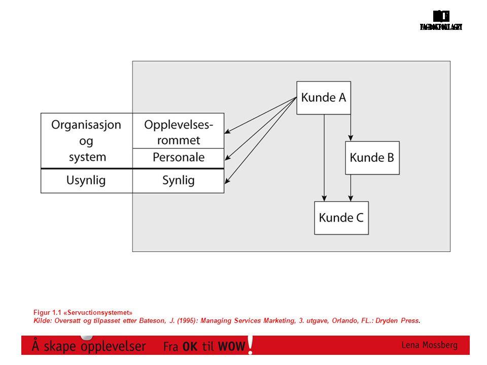 Figur 1.1 «Servuctionsystemet» Kilde: Oversatt og tilpasset etter Bateson, J.