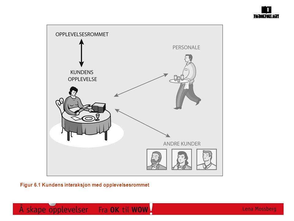 Figur 6.1 Kundens interaksjon med opplevelsesrommet