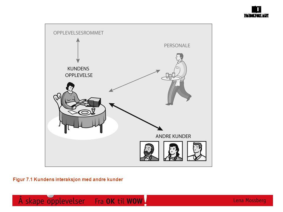 Figur 7.1 Kundens interaksjon med andre kunder