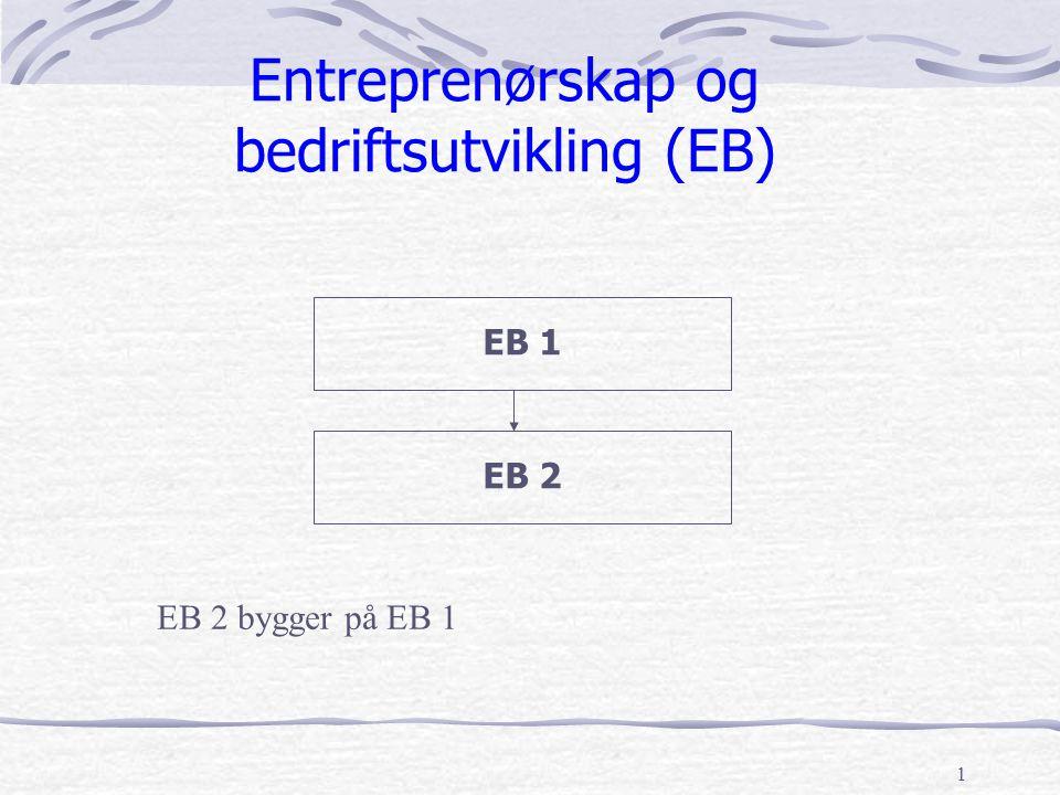 Entreprenørskap og bedriftsutvikling (EB)