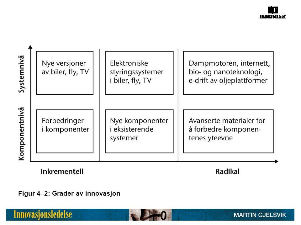 Figur 4–2: Grader av innovasjon