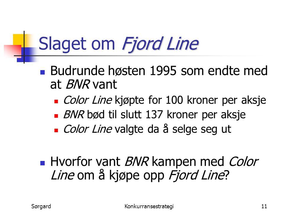 Slaget om Fjord Line Budrunde høsten 1995 som endte med at BNR vant