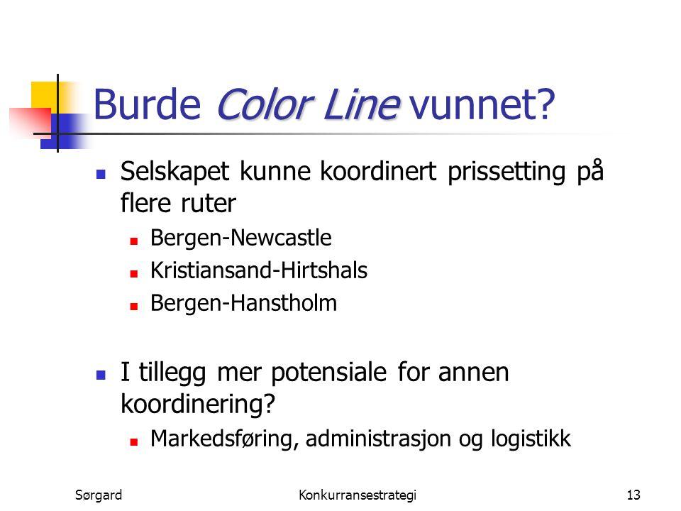Burde Color Line vunnet