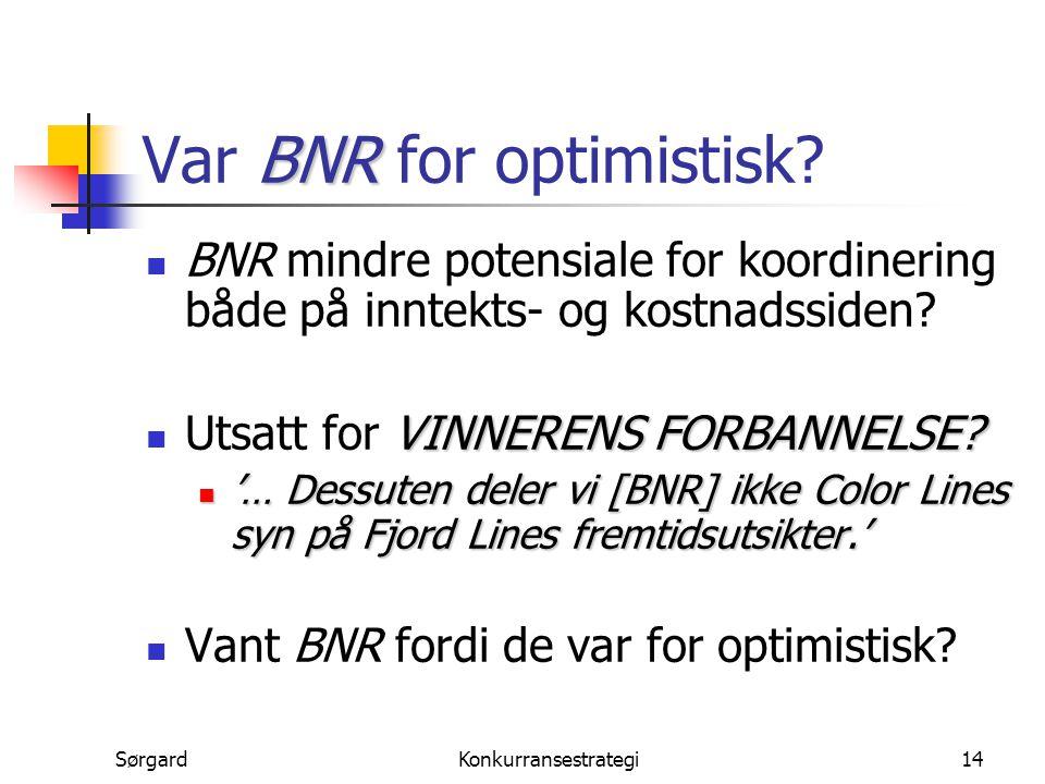 Var BNR for optimistisk