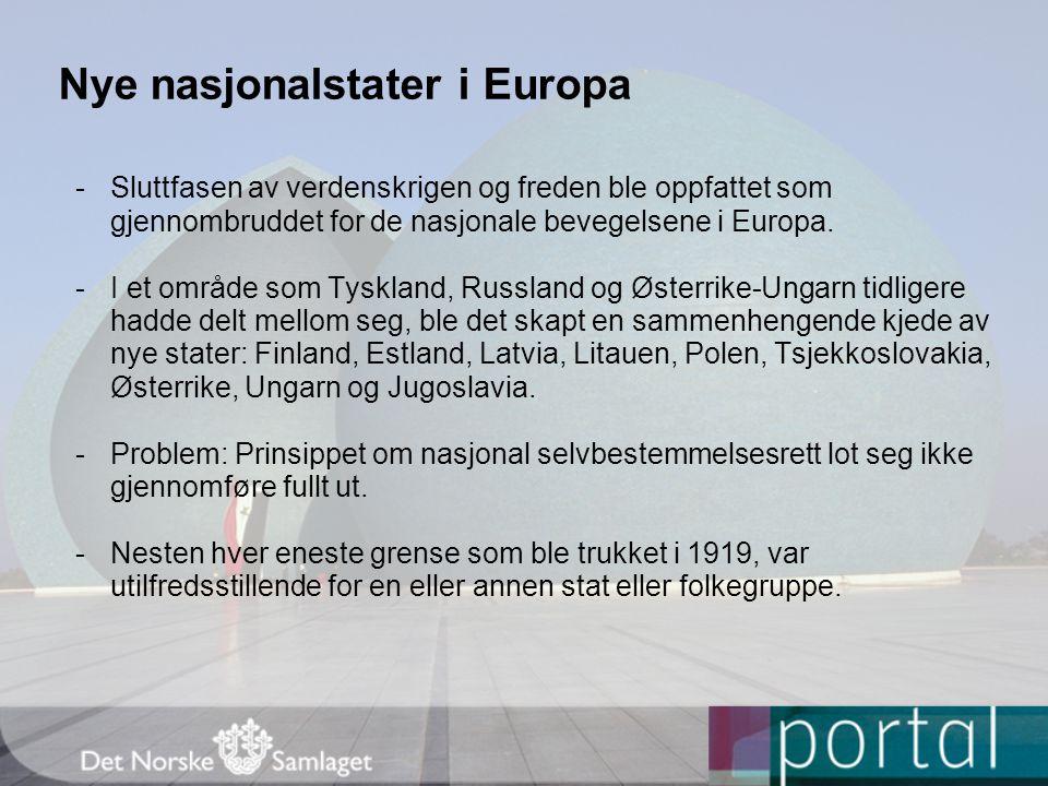 Nye nasjonalstater i Europa