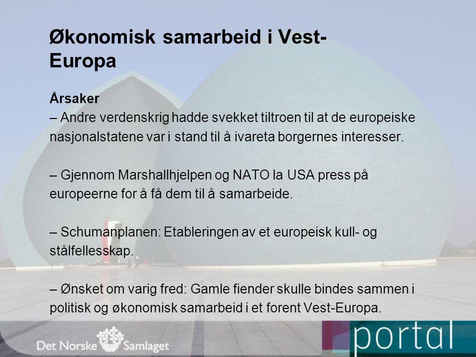 Økonomisk samarbeid i Vest-Europa