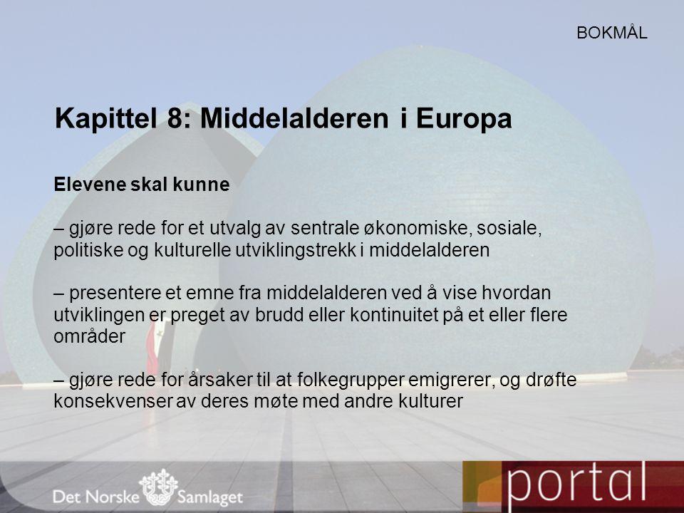 Kapittel 8: Middelalderen i Europa