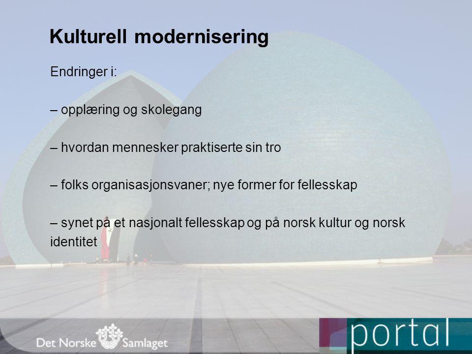 Kulturell modernisering